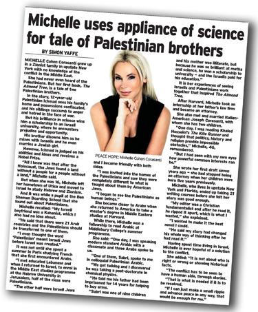 Michelle Cohen Corasanti Article Jewish Telegraph